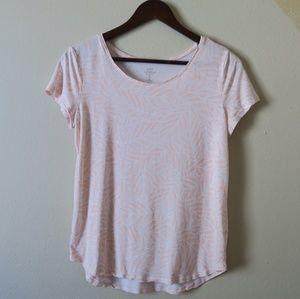 🌴 GAP Luxe Tropical Pink short sleeve Tee